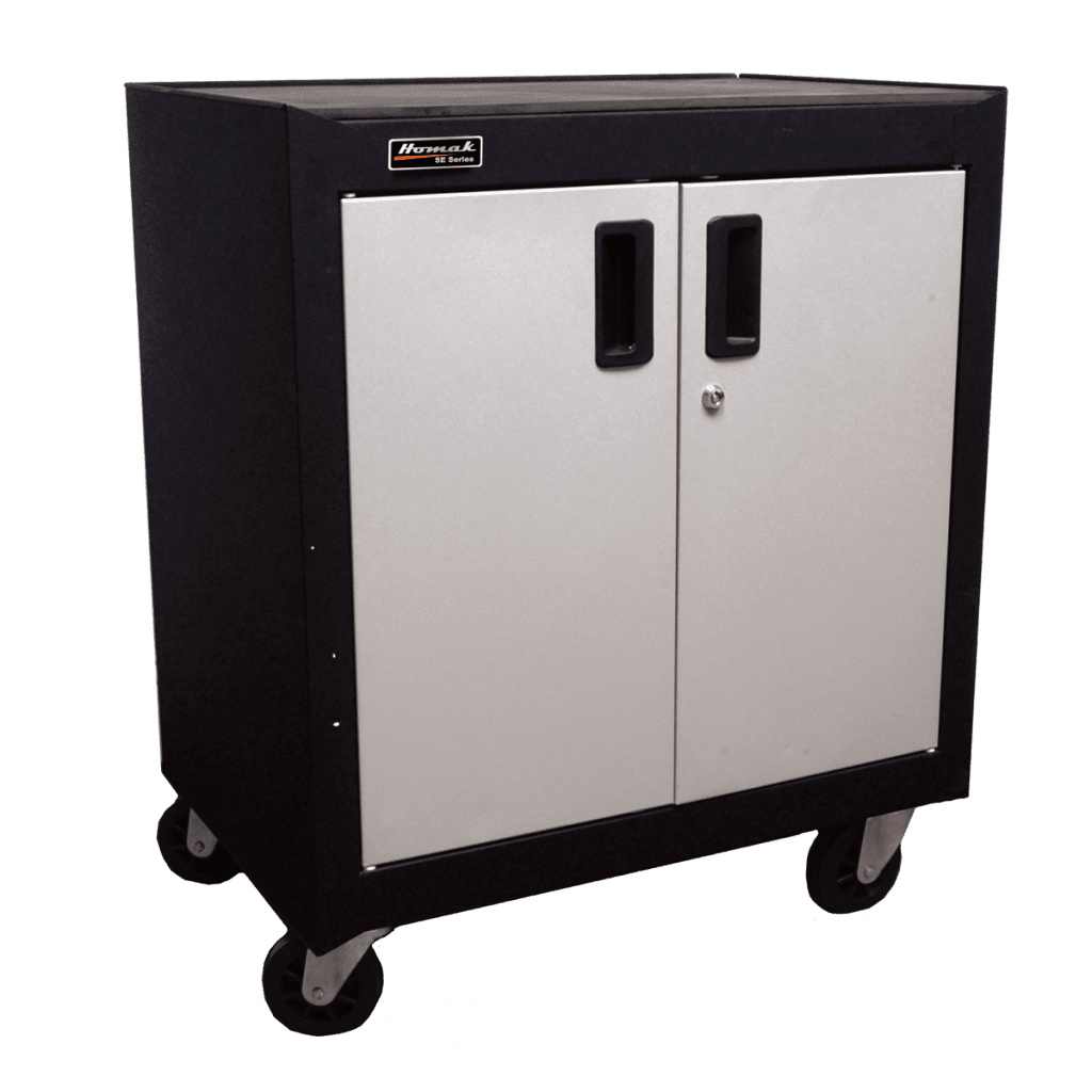 2-Door Mobile Cabinet with Pull Out Drawer