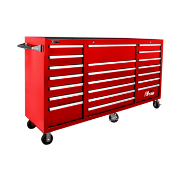 red H2Pro rolling tool box