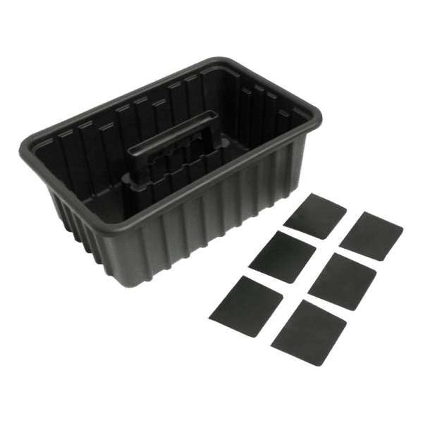 plastic tray with dividers