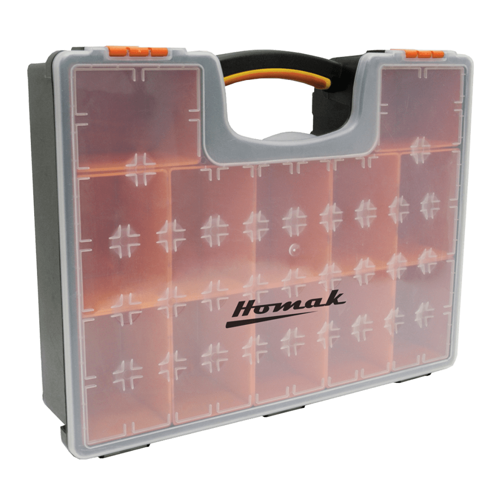 Plastic Storage With 12 Removable Bins Homak Manufacturing