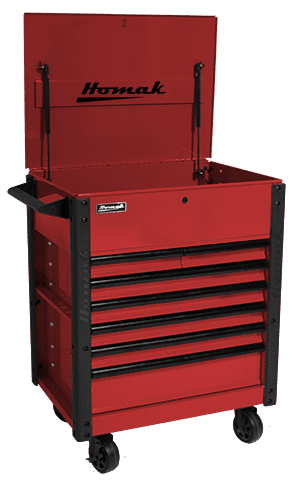 7 drawer tool cart - 35″ RS Pro Series - Homak Manufacturing