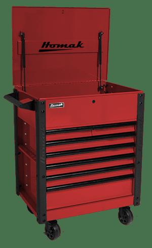 7 drawer tool cart - 35″ RS Pro Series - Homak Manufacturing