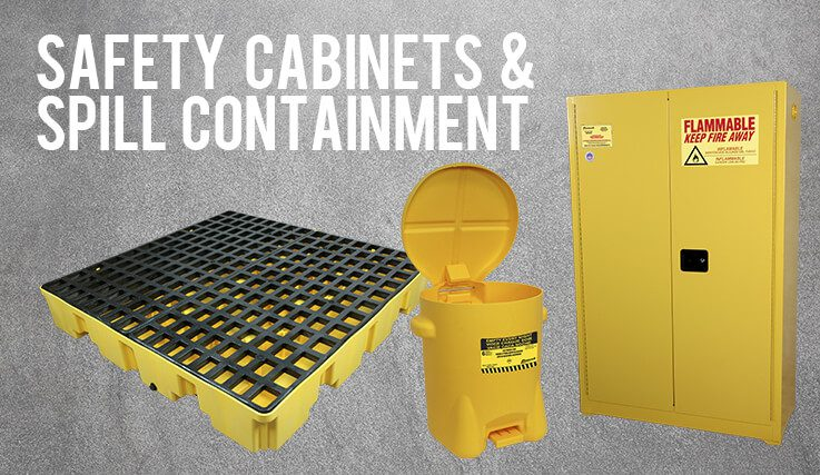 safety and spill containment banner